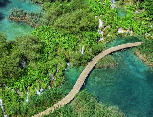Leinwanddruck Bild National Park Plitvice Lakes. Croatia.