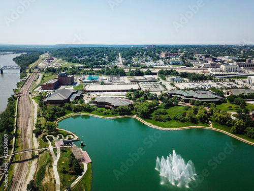 Aerial Photo of Omaha Skyline and Parks - 212364809