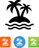 Tropical Island Icon - 212365019