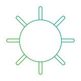 summer sun isolated icon vector illustration design - 212367261