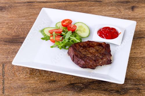 Aluminium Steakhouse Beef steak with sauce