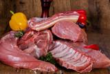 Raw pork meat - 212373257