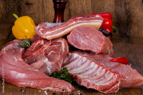 Raw pork meat - 212373257