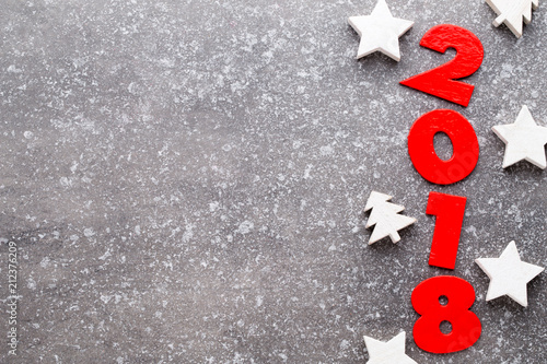 Christmas wooden decor on the snow background. - 212376209