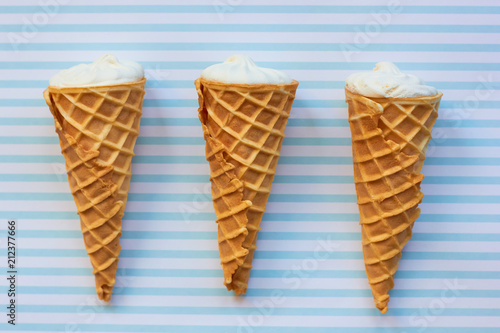 Poster  Ice cream in a waffle cone.