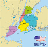 Vector map of New York - 212379677