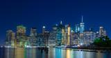 Manhattan skyline at night - 212381032