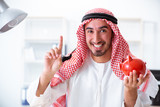 Arab businessman working in the office - 212382015