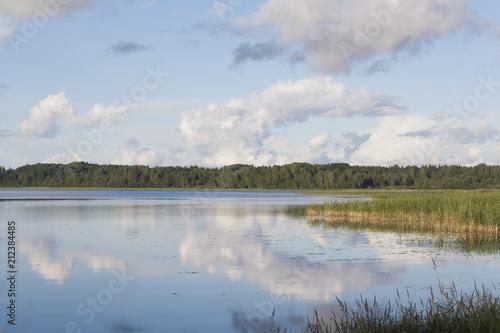 Fotobehang Zomer calm big lake