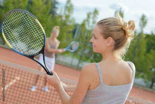 Aluminium Tennis Women playing tennis outdoors