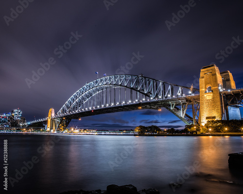 Aluminium Sydney Sydney Harbour Bridge at night