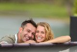 happy couple in love smiling - 212392678