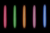 Detail of a fluorescent light tube mounted on a wall - 212398200