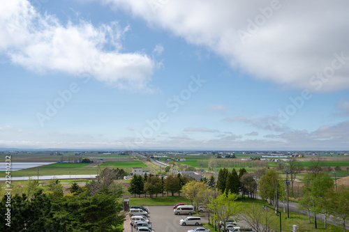 道の駅マオイの丘公園の展望台から見る長沼の風景