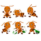 collection of ant cartoon - 212413203