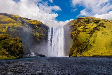 Skogafoss waterfall in Iceland. © tawatchai1990
