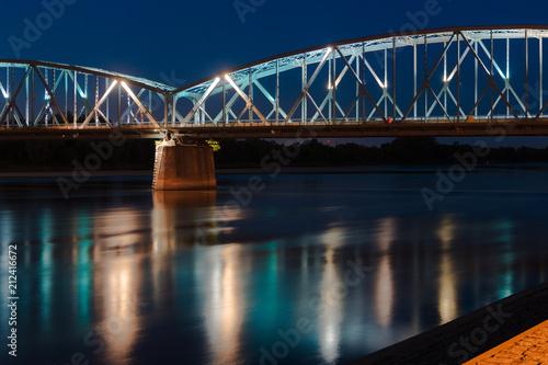 mata magnetyczna Toruń Nocą - Most Na Wiśle - Polska