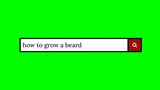 Writing a question on a fake search engine and clicking on the lens icon for the answer: how to grow a beard.  - 212416854