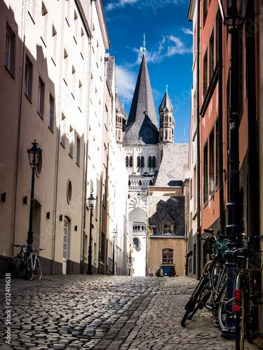Fotobehang Smalle straatjes Gasse in Köln
