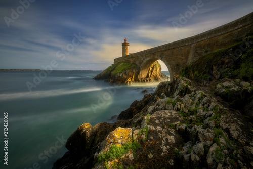 Aluminium Zwart Petit Minou lighthouse, Brittany, France