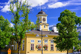 Sightseeing of Lappeenranta. Old wooden town hall in the historical center of the city, Finland