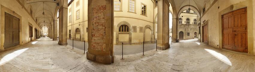 Arezzo, portici del Vasari a 360°