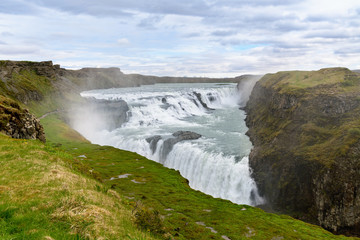 Gullfoss Waterfall - famous landmark in Iceland