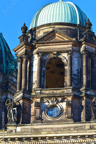 View to a part of the Berlin Dome in the downtown of Berlin in the evening sun. - 212434250