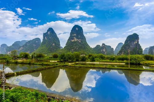 Aluminium Guilin The beautiful landscape of Guilin in Yangshuo