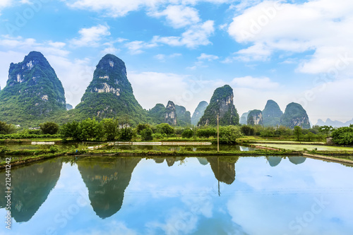 Fotobehang Guilin The beautiful landscape of Guilin in Yangshuo