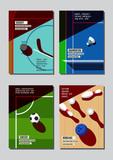 Graphic design sport concept. Sports equipment background. Vector Illustration. - 212448071