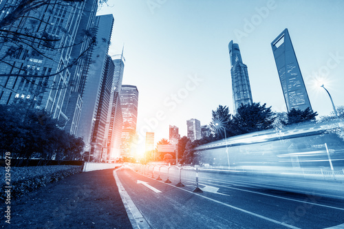Speed technology in Shanghai's urban nightscape