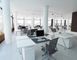 modern loft office interior.