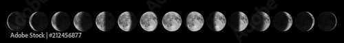 Leinwanddruck Bild Phases of the Moon. Moon lunar cycle.
