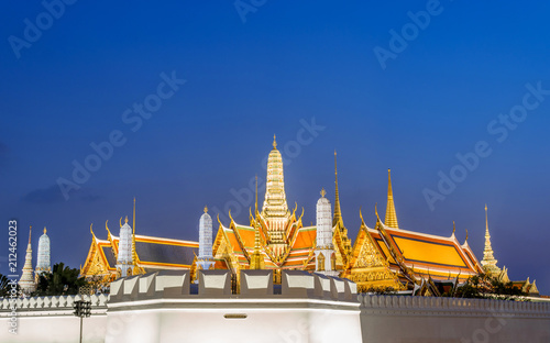 Plexiglas Bangkok Temple of the Emerald Buddha and Grand Palace the famous attraction in bangkok ,Thailand