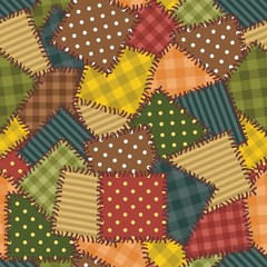 patchwork backgrpund with different patterns seamless  © Elena Kravchuk