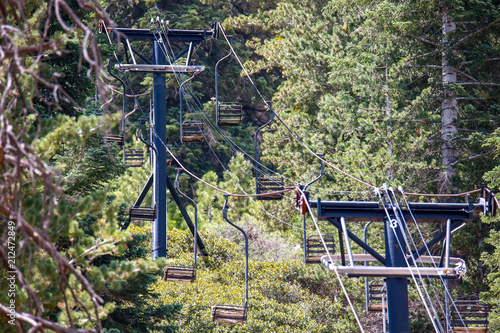 Abandoned ski lifts of Angeles Crest Highway outside of Los Angeles - 212472849