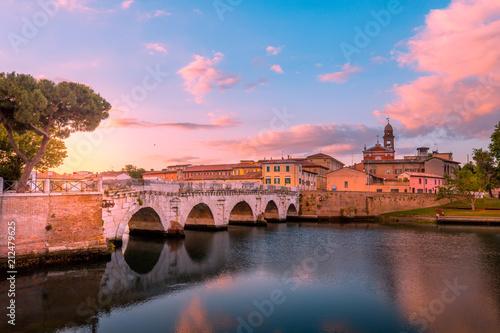 Famous bridge in Rimini, Italy - 212479625