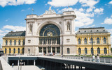 Main railway station building in Budapest, Hungary - 212481201