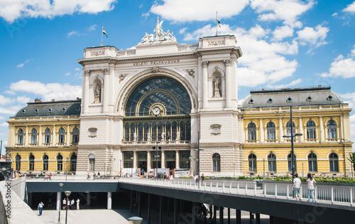 Aluminium Boedapest Main railway station building in Budapest, Hungary