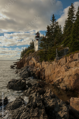 Aluminium Grijze traf. Bass Harbor Head Lighthouse, Maine