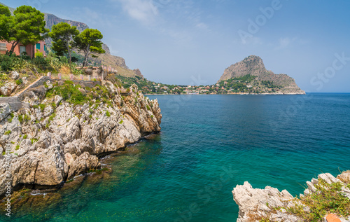 Plexiglas Palermo Scenic view in Sant Elia, near Santa Flavia, province of Palermo. Sicily.