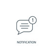 notification concept line icon. Simple element illustration