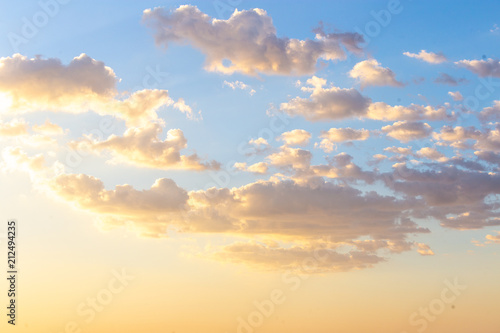 Fotobehang Zomer Clouds before sunset