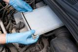 Clean cabin pollen air filter for a car - 212500833