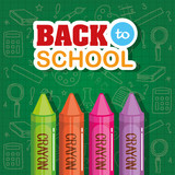 crayons utensils and school supplies background - 212509852