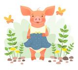 Piggy in dress - 212511435