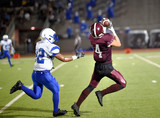 Football player making a catch during a football game - 212512278