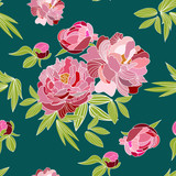 peonies vector pattern swatch. floral flower pink pattern. beautiful card.seamless. peony rose flower.