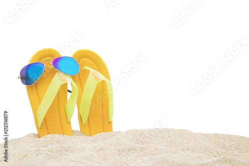 Foto Murales sand beach with the sea background, summer background